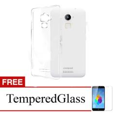 Case for CoolPad Fancy 3 - Clear + Gratis Tempered Glass - Ultra Thin Soft Case