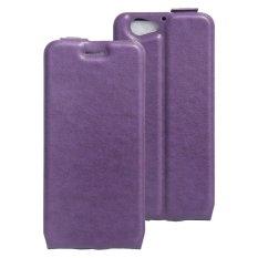 Case untuk HTC One A9s PU Flip Pouch Kartu Slot Case Cover-Ungu-Intl