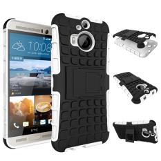 Case untuk HTC One M9 Plus Combo High Impact Case Cover Defender dengan Kickstand-Putih