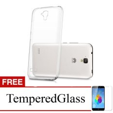 Case for Huawei Honor 3c - Clear + Gratis Tempered Glass - Ultra Thin Soft Case