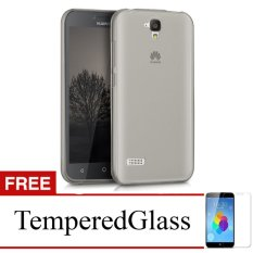 Case for Huawei Honor 3c Lite / Holly - Abu-abu + Gratis Tempered Glass - Ultra Thin Soft Case
