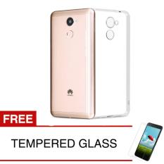 Case For Huawei Y7 Prime 2017 Clear Gratis Tempered Glass Ultra Thin Soft Case Murah