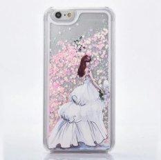 Case untuk iPhone 7 Plus, Comfkey Cair Case untuk iPhone 7 Plus peri Bunga Kupu