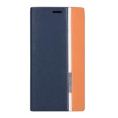 Case untuk Lenovo A7000/A7000 Plus/K3 Note-Dark Blue Dua Warna PU