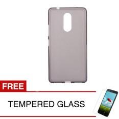 Case for Lenovo K6 Note - Abu-abu + Gratis Tempered Glass - Ultra Thin