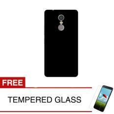 Spesifikasi Case For Lenovo Vibe K6 Note Slim Black Matte Hardcase Gratis Tempered Glass Terbaik