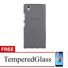 Case for Lenovo Vibe P1 Turbo - Abu-abu + Gratis Tempered Glass - Ultra Thin Soft Case