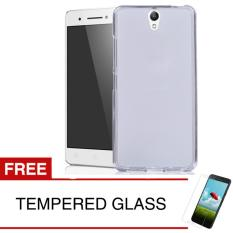 Case for Lenovo Vibe S1 - Clear + Gratis Tempered Glass - Ultra Thin Soft Case