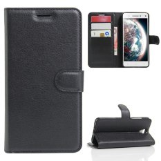 Case untuk Lenovo VIBE S1 LITE PU Dompet Slot Kartu Penutupan Flip Magnetik-Hitam-Intl