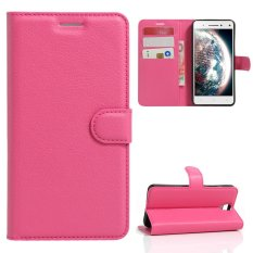 Case untuk Lenovo VIBE S1 LITE PU Dompet Slot Kartu Penutupan Flip Magnetik-Hot Pink-Intl