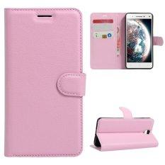Case untuk Lenovo VIBE S1 LITE PU Dompet Slot Kartu Penutupan Flip Magnetik-Pink-Intl