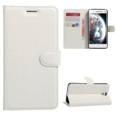 Case untuk Lenovo VIBE S1 LITE PU Dompet Slot Kartu Penutupan Flip Magnetik-Putih-Intl