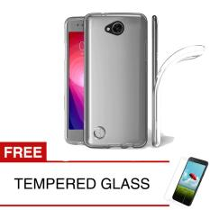 Case for LG K10 Power / M320 - Clear + Gratis Tempered Glass - Ultra Thin Soft Case