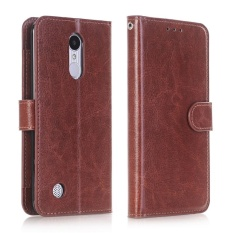 Case untuk LG K20 V/K20 Plus/VS501/LV5/Harmony/K10 2017 Dompet Kulit Case Magnetic Flip Stand Cover (Brown) -Intl