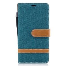 Case untuk LG K7/Untuk LG K8/Untuk LG Phoenix 2 Premium Kulit Dompet Cover Folio Kasus Pelindung Shell Dompet Smartphone Stand Kickstand Kelas Tinggi Sederhana Denim Gaya Kulit Penutup-Internasional