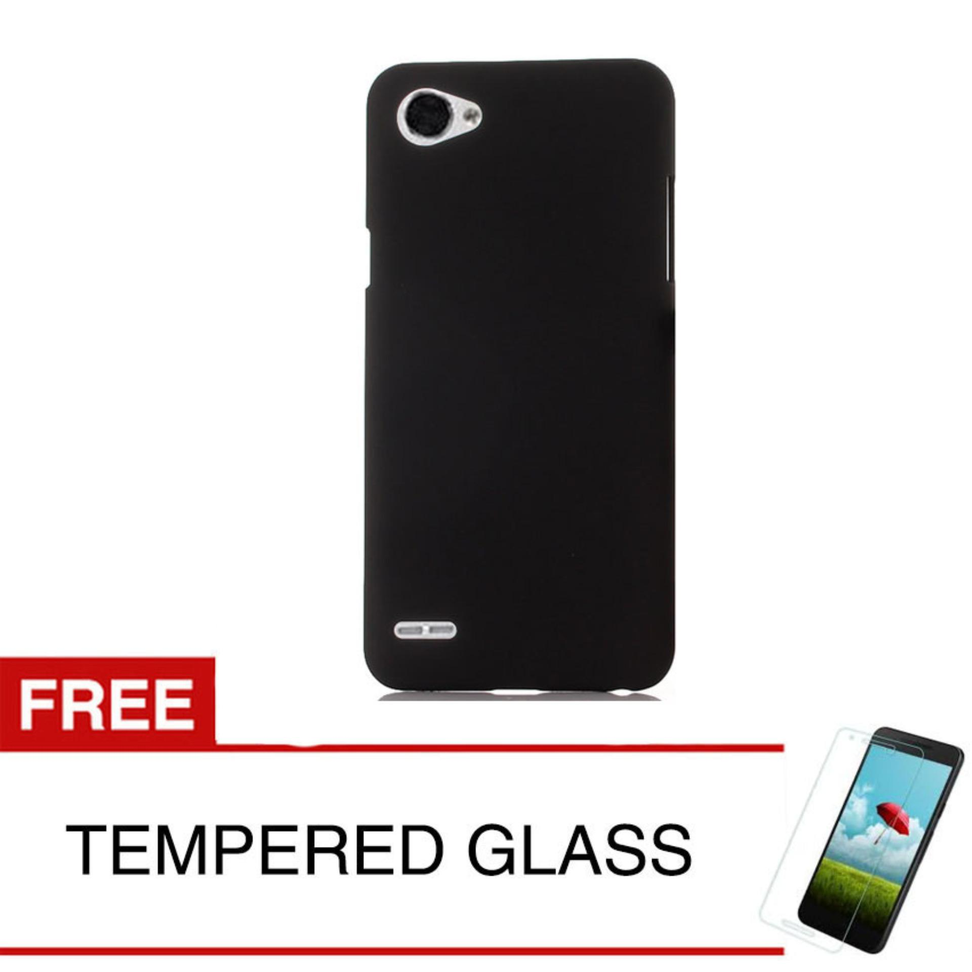 Case for LG Q6 / Q6 Plus - Slim Black Matte Hardcase +  Gratis Tempered Glass