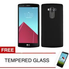 Case for LG V10 - Slim Black Matte Hardcase +  Gratis Tempered Glass