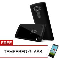 Case for LG V10 - Slim Soft Case - Hitam Solid + Gratis Tempered Glass