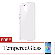 Case for Motorola Moto M - Clear + Gratis Tempered Glass - Ultra Thin Soft Case