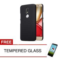 Case for Motorola Moto M / XT1663 - Slim Black Matte Hardcase +  Gratis Tempered Glass