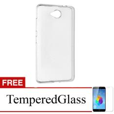 Case for Nokia Lumia 530 - Clear + Gratis Tempered Glass - Ultra Thin Soft Case