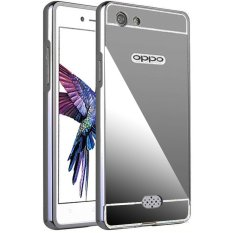 Case For Oppo Neo 5 / A31 Bumper Chrome With Mirror Sliding - Black