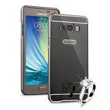 Cuci Gudang Case For Samsung Galaxy A3 A300 Alumunium Bumper With Mirror Backdoor Slide Hitam