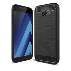 Case For Samsung Galaxy A7 2017 New Edition SM-A720 Slim Carbon Shockproof Hybrid Case Series-Hitam