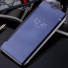 Kualitas Case For Samsung Galaxy J5 Pro Flipcase Flip Mirror Cover S View Transparan Auto Lock Casing Hp Blue Case
