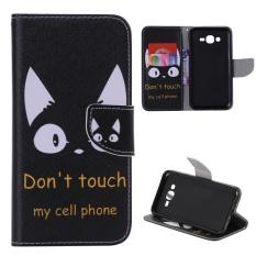 Case untuk Samsung Galaxy J7 (2015) Flip Dompet Kulit Magnetic Penutupan Case-Jangan Sentuh My Cell Phone-Intl