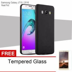 Case For Samsung Galaxy J710 / J7 2016 UltraSlim Original Shockproof Hybrid Full Cover Series- Hitam Free Tempered Glass