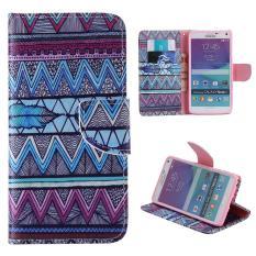 Case untuk Samsung Galaxy Note 4 N9100 Flip Dompet Kulit Magnetic Penutupan Case-Wave Bulu-Intl