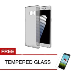 Jual Case For Samsung Galaxy Note Fe Fan Edition Abu Abu Gratis Tempered Glass Ultra Thin Soft Case Original