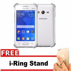 Case for Samsung Galaxy V / V+ Plus / Ace 4 / Duos  Anti Crack / Anti Pecah / Anti Shock Shockproof Elegant Softcase + Gratis Free iRing Stand Phone Holder - Putih Bening
