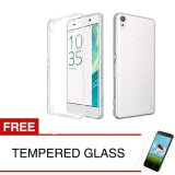 Cara Beli Case For Sony Xperia Xa F3111 5 Inch Clear Gratis Tempered Glass Ultra Thin Soft Case
