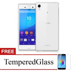 Case For Sony Xperia Z3+ / Z3 Plus / E6553 - Clear + Gratis Tempered Glass - Ultra Thin Soft Case