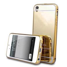 Case for Vivo Y15 Aluminium Bumper With Mirror Backdoor Slide - Gold