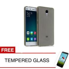 Case for Xiaomi Mi 4 - Abu-abu + Gratis Tempered Glass - Ultra Thin Soft Case
