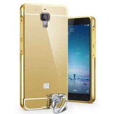 Toko Case For Xiaomi Mi 4 Alumunium Bumper With Mirror Backdoor Slide Emas Termurah Di Dki Jakarta