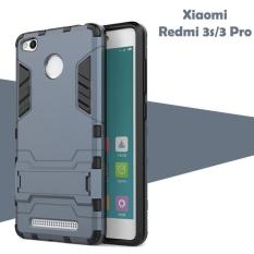 Case For Xiaomi Redmi 3s / 3 Pro / 3 Prime Iron Man Transformer Kickstand - Black