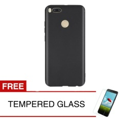 Review Case For Xiaomi Redmi Mi A1 Androidone Slim Soft Case Hitam Solid Gratis Tempered Glass Softcase