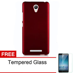 Top 10 Case For Xiaomi Redmi Note 2 Frosted Shell Series Merah Gratis Tempered Glass Online