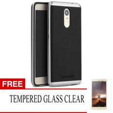 Harga Case For Xiaomi Redmi Note 3 Neo Hybrid Series Perak Gratis Tempered Glass New
