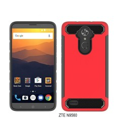 untuk ZTE Max XL N9560 Hybrid Carbon Fiber Shockproof Back Case Cover-Intl