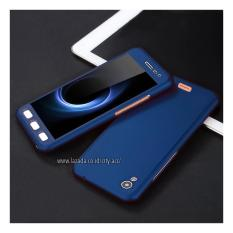 Case Front Back 360 Degree Full Protection for Infinix Hot Note 5,5 ( X551 ) - Dark Blue + Tempered Glass
