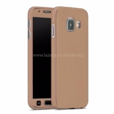 Case Front Back 360 Degree Full Protection for Samsung Galaxy J5 Prime - Gold+ Tempered Glass