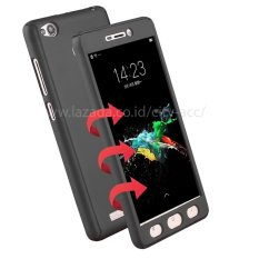 Case Front Back 360 Degree Full Protection for Xiaomi Redmi 4A - Grey + Tempered Glass