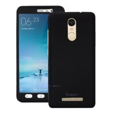Case Front Back 360 Degree Full Protection for Xiaomi Redmi Note 3 / Redmi Note 3 Pro - Black + Tempered Glass