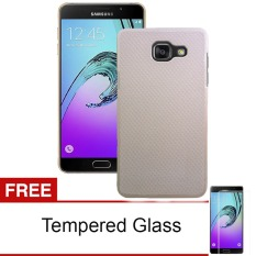 Case frosted For Samsung Galaxy A510 / A5 2016 - Emas + Gratis Tempered Glass