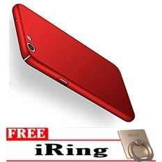 Case Hard Frosted PC Back Cover 360 Full Protection Housing For OPPO F1s / A59 – Red FREE Iring